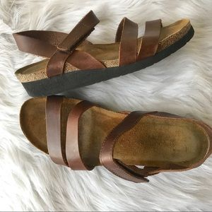 Naot Kayla Brown Leather Sandals 41